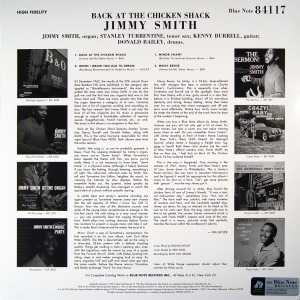 Jimmy Smith - Back At The Chicken Shack (back)